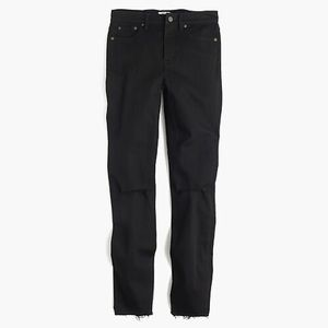 "Distressed 9"" lookout high-rise jean black 25"